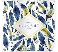 Elegant leaves Poster