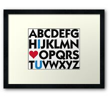 I love you and the alphabet Framed Print