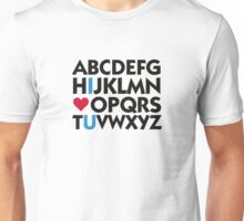 I love you and the alphabet Unisex T-Shirt