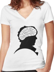 BORING!! Women's Fitted V-Neck T-Shirt