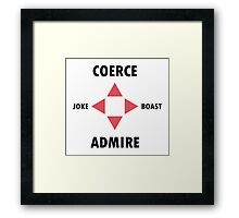 Social Game Framed Print