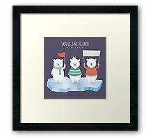 Save earth polar bears Framed Print