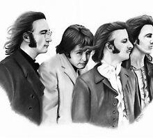 The Beatles Pencil Drawing by ArtByTaraUK