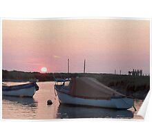 Sunset Morston Harbour Norfolk Poster