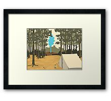 Greetings from Yellowstone Framed Print