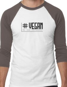 # Vegan - Life - Love - Compassion (Black) T-Shirt
