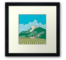 Farmer and his Field Framed Print