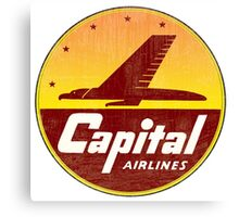 Capital Airlines USA Canvas Print