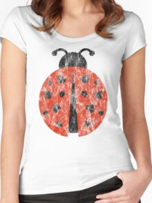 ladybug love. Women's Fitted Scoop T-Shirt