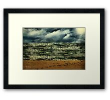 Winter Whitecaps Framed Print