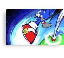 Sonic | Rocket Kick Canvas Print