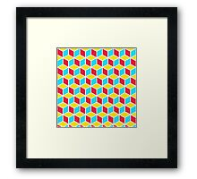 Primary Cubes Framed Print