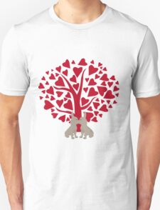 Love Frenchies, kissing French Bulldogs T-Shirt