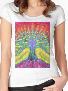 Water Tree Women's Fitted Scoop T-Shirt