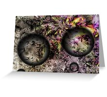 Duality Galaxy Greeting Card