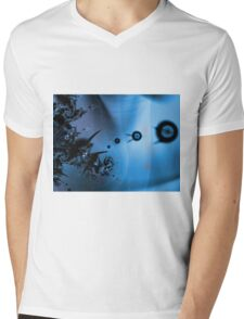Blue Ocean Abstract Mens V-Neck T-Shirt