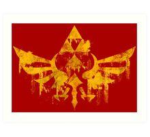Skyward Symbol - Red BG Art Print