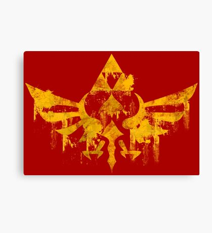 Skyward Symbol - Red BG Canvas Print