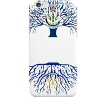 MAINE GROWN WITH WISCONSIN ROOTS iPhone Case/Skin