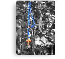 Rosary beads (selective colour) Canvas Print