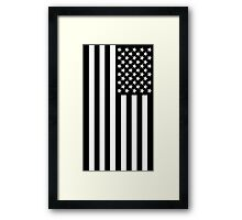 The black flag  Framed Print