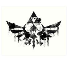 Skyward Symbol - Black Art Print