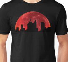Super hero on roof Unisex T-Shirt