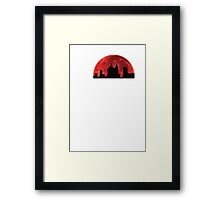 Super hero on roof Framed Print
