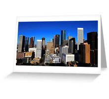 Downtown Houston Greeting Card