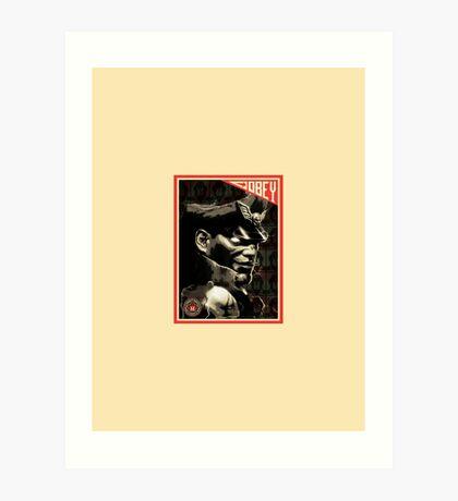 M. Bison Art Print