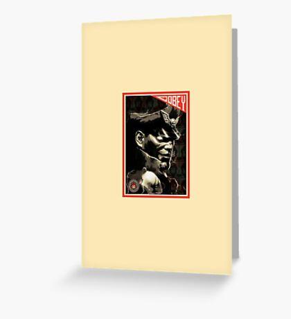 M. Bison Greeting Card