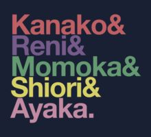 Momoclo goes Helvetica Kids Tee