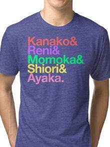 Momoclo goes Helvetica Tri-blend T-Shirt
