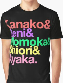 Momoclo goes Helvetica Graphic T-Shirt