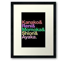 Momoclo goes Helvetica Framed Print