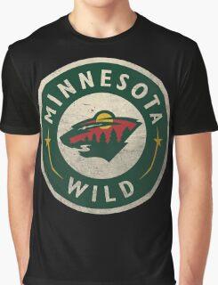 Minnesota Wild Bear Round Graphic T-Shirt