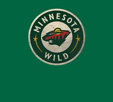 Minnesota Wild Bear Round Unisex T-Shirt