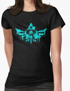 Skyward Symbol - Aqua Womens Fitted T-Shirt