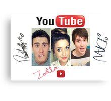 youtube star Canvas Print