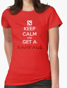 Keep calm and get a RAMPAGE Womens Fitted T-Shirt