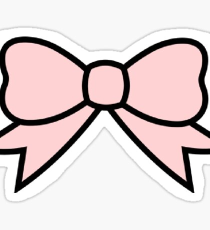pink bow 2 Sticker
