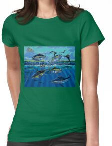 Yellowfin Run Womens Fitted T-Shirt