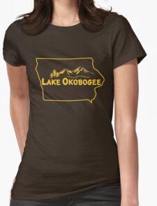 Lake Okobogee, Iowa Womens Fitted T-Shirt