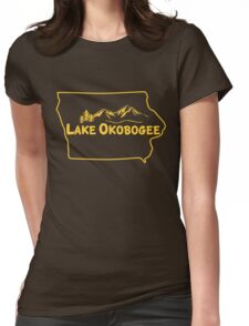Lake Okobogee, Iowa Womens Fitted T-Shirt