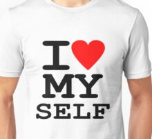 Parody, satire, humour, I heart MY self Unisex T-Shirt