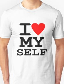 Parody, satire, humour, I heart MY self T-Shirt