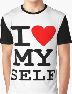 Parody, satire, humour, I heart MY self Graphic T-Shirt