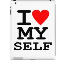 Parody, satire, humour, I heart MY self iPad Case/Skin