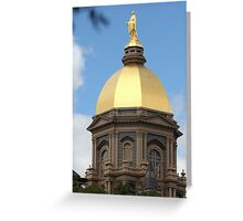 Notre Dame Golden Dome Greeting Card