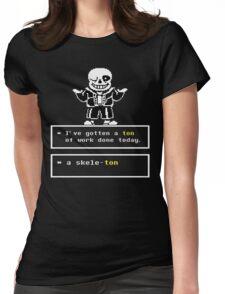 Undertale Sans Womens Fitted T-Shirt